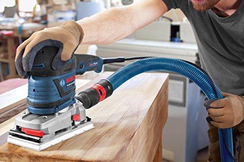 Bosch Professional GSS 230 AVE, 300 W Nennaufnahmeleistung, 92mm Schleifplatte, 182mm Schleifplatte, L-BOXX, Schleifpapier, Microfilter Box, Zusatzhandgriff - 2