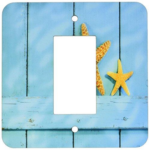 Rikki Knight Seestern auf Blau Rustikal Tür Single GFI Lampe Switch Plate (Steckdosen-abdeckungen Rustikale)