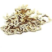 Protector de Esquina de Libro de Metal 100 piezas Esquina de Álbum Esquina de Triángulo de Estilo Retro