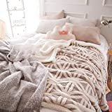 FOREVER-YOU Flanell Lamm Fleece Decke Decke Dicke Wolldecken Winter Kleine Mittagsschlaf und 1.6 * 2 M, B