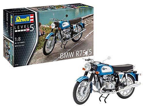 Revell 07938 14 Modellbausatz BMW R75/5 im Maßstab 1:8, Level 5