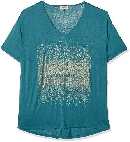 Triangle Damen Hemd 18708327042, Türkis (Teal Blue With Print 67D5), 50 (Jersey Metallic-v-ausschnitt)