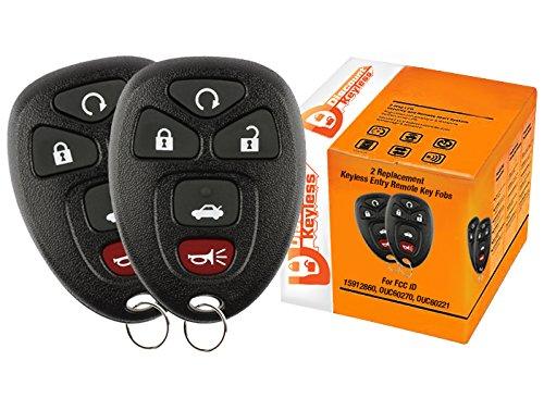 Discount Keyless-Ersatz Schlüsselanhänger Auto Fernbedienung kompatibel mit ouc60270, 15912860 (Lucerne Schlüsselanhänger Buick)