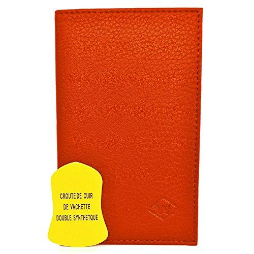 Charmoni - Porte-papiers De Voiture 3 Volets En Cuir De Vachette Neuf Hugo - orange