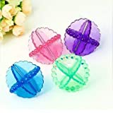 STYLE HOME 4Pc Multicolour Washing Machine Cloth Cleaning Laundry Dryer Washing Ball