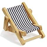 Deko-Liegestuhl ca. 10 cm blau-weiß hergestellt von HobbyFun