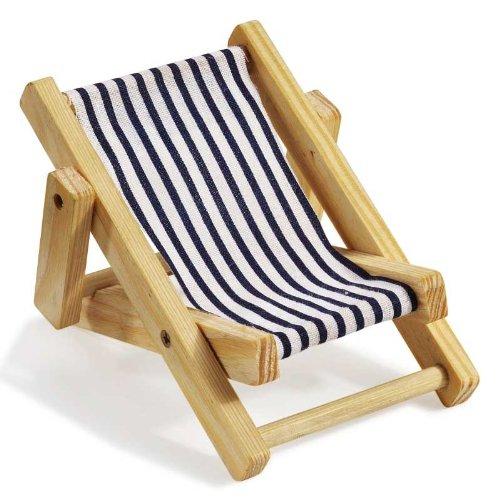 Deko-Liegestuhl ca. 10 cm blau-weiß (Liegestühle)