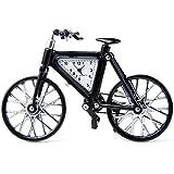 Modern Standuhr Fahrrad Design Uhr Rechteckige Edelstahl-Körper-Zifferblatt gutes Geschenke für Kinder und Junge auch Kinderzimmer Arbeitszimmer Dekaration Schwarz
