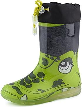 Ladeheid Botas de Caucho de Goma Zapatos de Seguridad Unisex Niños PA120PMS