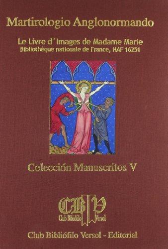 Martirologio angolonormando: le livre d'images de madame marie