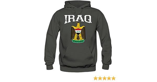 Irak Wappen Hoodie Republik Iraq Saladin-Adler Bagdad Herren-Kapuzenpullover