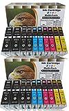 20 komp. XL Tintenpatronen mit Chip für Canon Pixma MG 5450 5450s 5550 5650 6350 6450 6650 7150 7550 / Canon Pixma MX 725 925 MX925 MX725 / Canon Pixma ip7250 ip8750 / Canon Pixma ix6850 4 x schwarz Canon PGI-550BK XL / 4 x photoschwarz Canon CLI-551BK XL / 4 x cyan Canon CLI-551C XL / 4 x magenta Canon CLI-551M XL / 4 x yellow Canon CLI-551Y XL