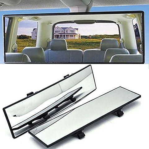 GOGOLO Auto Universal Super Weitwinkel 12 '' Kurve Innenansicht Clip-On Rückansicht Spiegel Panorama Shatterproof Baby Sitz Auto