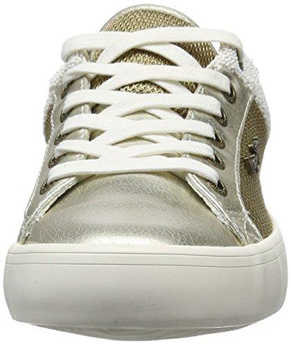 Pepe Jeans Clinton Mesh Gold, Scarpe da Ginnastica Basse Donna Oro (Gold)