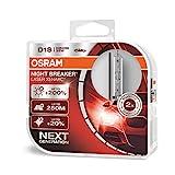 Osram Xenarc Night Breaker Laser D1S, +200 % mehr Helligkeit, HID Xenon-Scheinwerferlampe, 66140XNL-HCB, Duo Box (2 Lampen)