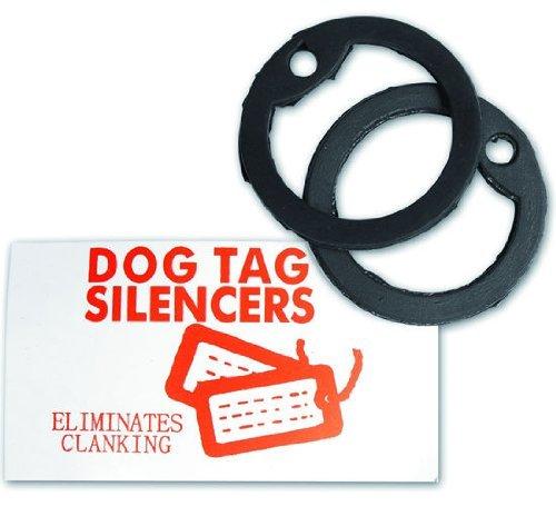 MIL-TEC Dog Tag SILEN cers per US riconoscimento automatico marca in gomma nera (1 Coppia) (Small)