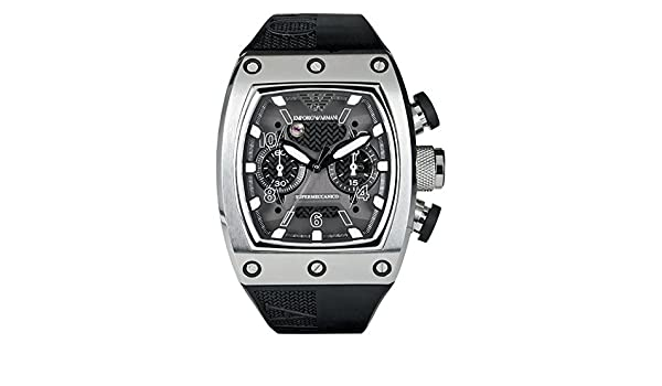 new high website for discount special sales Emporio Armani AR4900 - Wristwatch Mens Rubber Strap - Black ...