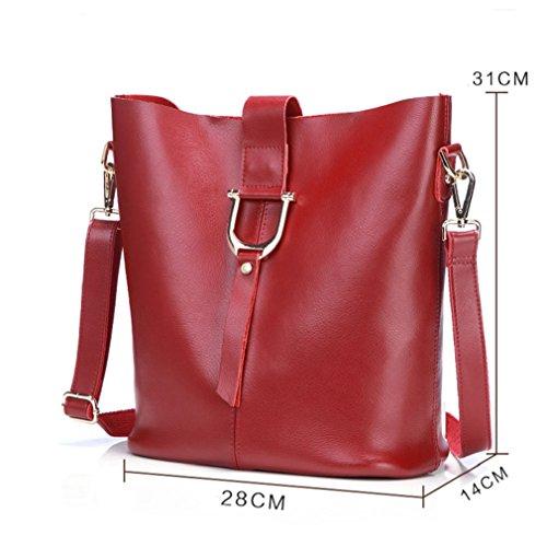 Borsa del messaggero di joker borsa a tracolla singola slant span semplicità borsa a secchiello borse donna-I A