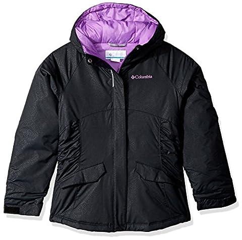 Columbia Big Girls' Razzmadazzle Jacket, Black Snowflake Emboss, Medium