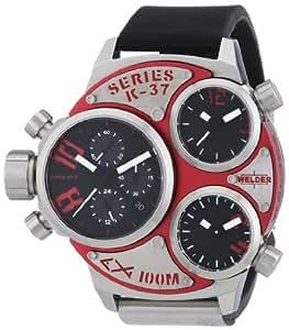 Welder -6500 K37- Montre Mixte - Quartz Chronographe - Bracelet Caoutchouc Noir