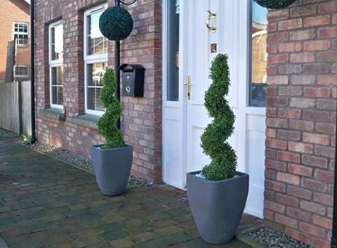 2Künstlicher (TM) 3Ft 90cm Buchsbaum Spirale formschnittbäume * * UV-Verblassen geschützt *