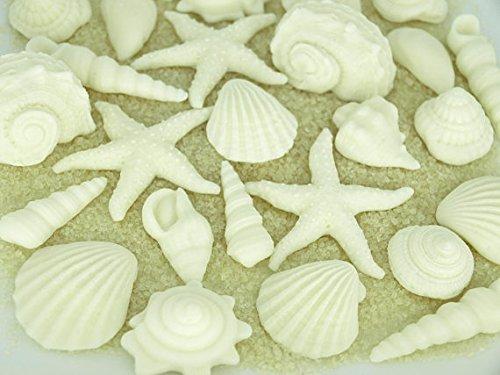 Nautisches Hochzeit Fondant Muscheln-Cupcake Topper Kuchen Dekorationen Sommer Strand Braut Dusche, Gastgeschenken Hochzeit Kuchen, unter dem Meer Party