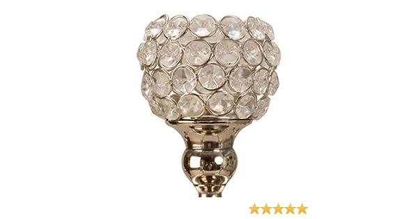 Kerzenleuchter glas kerzenstander kerzenhalter metall weiss silber