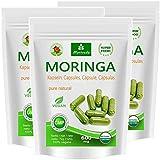 Moringa Kapseln 600mg oder Moringa Energy Tabs 950mg – Oleifera, vegan, Qualitätsprodukt von MoriVeda (360 Kapseln)