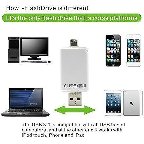 New i-FlashDrive USB Flash Drive Memory Stick para iPhone 6, 6plus, 5S, 5C, iPad mini, iPad Air, iPod Touch by u-lucky & # xFF08; TM y # xFF09; (32.0
