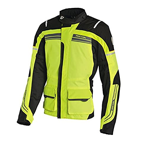 Richa Phantom Motorcycle Jacket Full Fluo Yellow