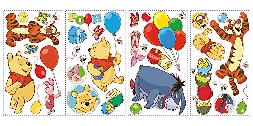 Preisvergleich Produktbild WINNIE THE POOH - Pooh and Friends - 39 Wandsticker aus USA