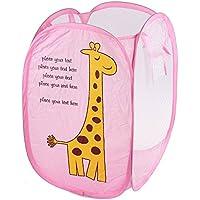 VANKER Animal plegable ropa sucia bolsa de almacenamiento de la cesta de los niños de la cesta - jirafa rosada