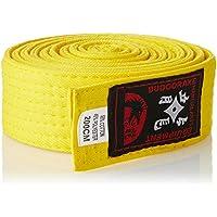 Budodrake Cinturón Amarillo 240 cm para Karate Judo Taekwondo Hapkido Aikido Artes Marciales