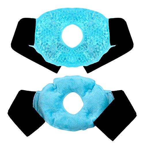 Impacco di ghiaccio per ginocchio, perline di gel Confezioni per ghiaccio con morbido peluche, terapia caldo/freddo per lesioni sportive, distorsioni, gonfiore, dolore muscolare, lividi [Blu]