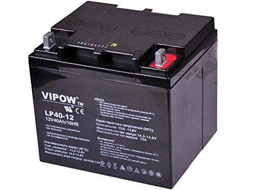 Vipow - Batería Movilidad 12V 40Ah Bateria ciclo