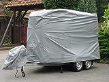 EXCOLO Pferde Transporter Abdeckung Plane Schutz Haube Schutzhülle Schutzplane Garage für große 2er Pferdeanhänger