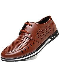 Oxford Nuevos Zapatos De Cuero Frescos De Verano De Los Hombres Sandalias Huecas Zapatos Ocasionales De Los Hombres Zapatos…