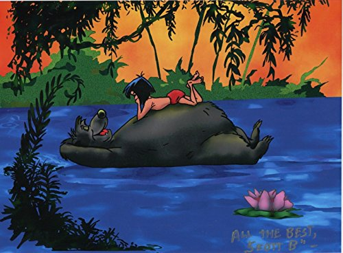 Disney Jungle Book Mowgli Man Cub Baloo Bear Color 11x8.5 Tribute Print W COA (Bear Baloo)