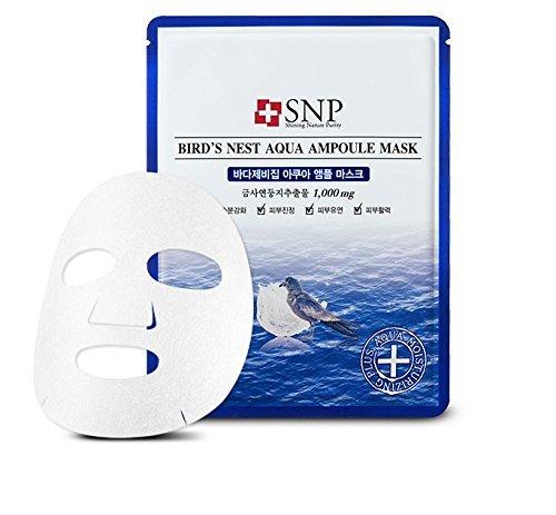SNP - Bird´s Nest Aqua Ampoule Mask - 10 x Feuchtigkeitsmasken mit Korallenmoos und Hamamelis für Männer und Frauen - Gesichtsmasken gegen trockene Haut - Masken fürs Gesicht für die (Männer Selbstgemachte Kostüme Für)