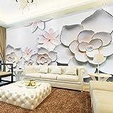 LONGYUCHEN Benutzerdefinierte 3D Seide Wandbild Tapete Pflanze Muster Relief Floral Schlafzimmer Wohnzimmer Tv Hintergrund Wand Dekoration Wandbild,180Cm(H)×280Cm(W)