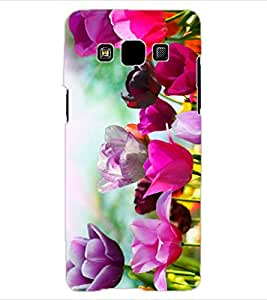 ColourCraft Beautiful Flowers Design Back Case Cover for SAMSUNG GALAXY A3
