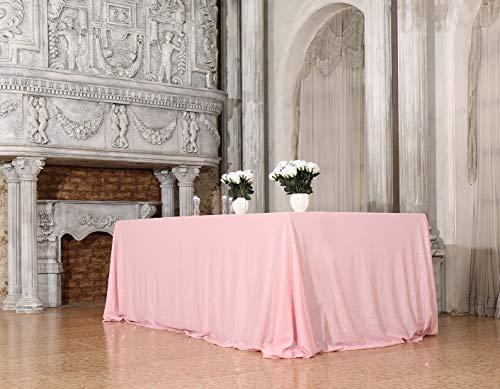 Mantel redondo de lentejuelas para mesa de postres en fiestas, eventos o exposiciones. De 3E Home., tela, Rosa, 70×120''