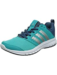 adidas Women's Madoru Running Shoes-Blue/Silver/White, Size 5.5