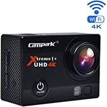 Campark® ACT74 4k Wifi Ultra HD Resistente al agua Cámara de Acción Deportiva Temporizador y Grabación en Cámara Lenta Cámara de Casco Amplio Ángulo de Visión 170 DVR Videocámara (incluido: Maletín profesional +Batería de repuesto)