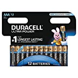 Duracell Ultra Power Typ AAA Alkaline Batterien, 12er Pack