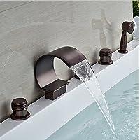Gowe 5PCS 5PCS 5PCS cascata rubinetto miscelatore per vasca da bagno rubinetto miscelatore 5 fori per vasca da bagno con doccetta in Coloreeee  Giallo | Apparenza Estetica  | Ad un prezzo inferiore  | Beautiful  0e7475