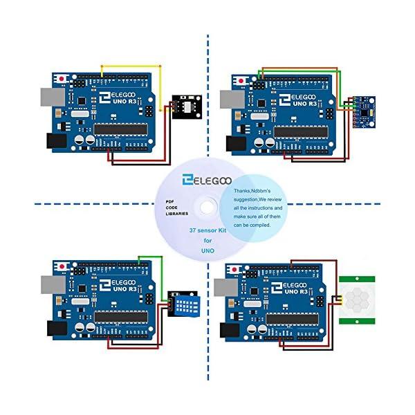 512u04zIpML. SS600  - ELEGOO Actualizado 37-en-1 Kit de Módulos de Sensores con Tutorial para Arduino UNO R3 Mega 2560 Nano Arduino Sensores Kit Raspberry Sensores