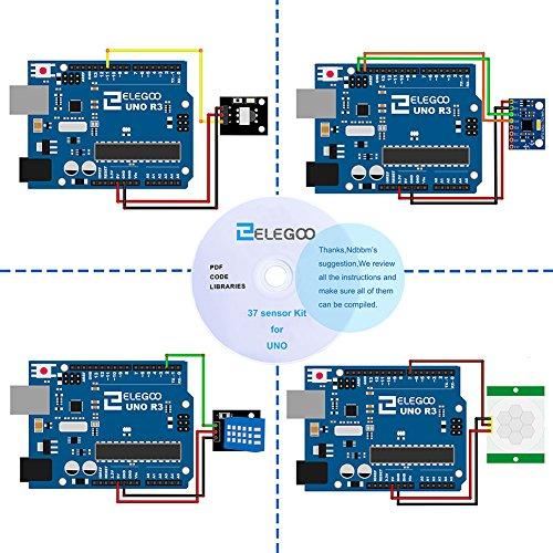 512u04zIpML - ELEGOO Actualizado 37-en-1 Kit de Módulos de Sensores con Tutorial para Arduino UNO R3 Mega 2560 Nano Arduino Sensores Kit Raspberry Sensores