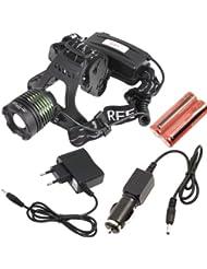 1600lm CREE XM-L T6 LED réglable en chef Lampe Zoomable + Chargeur LD184
