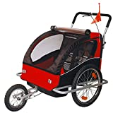 Best Baby Bike Strollers - Children Bicycle Trailer & Jogging Stroller Combo-Red/Black 502-01 Review